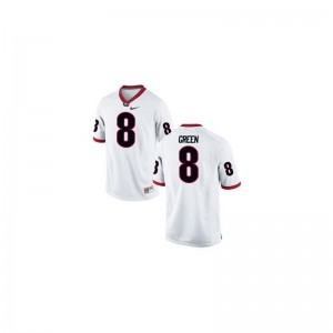 Youth(Kids) Limited White Georgia Player Jersey of A.J. Green