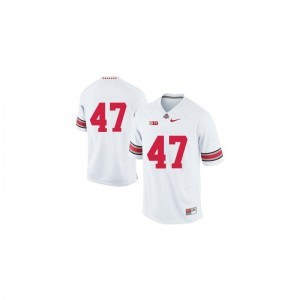 A.J. Hawk Mens Ohio State Jersey White Game Jersey