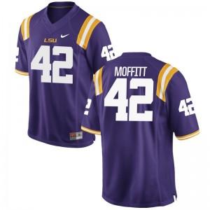 Aaron Moffitt Mens Football Jersey Louisiana State Tigers Game - Purple
