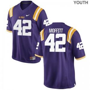 Aaron Moffitt For Kids Player Jersey LSU Game Purple