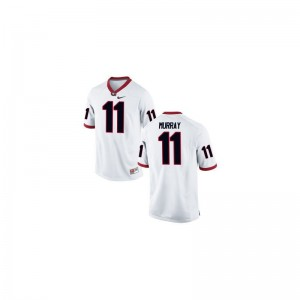 Georgia Aaron Murray High School Jerseys Kids White Limited