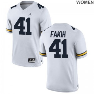 Michigan Wolverines Adam Fakih Player Jerseys Jordan White Limited Women Jerseys