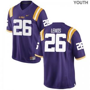 Limited Adam Lewis Jersey S-XL LSU Kids Purple