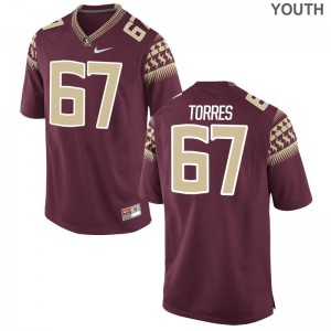 Garnet Youth(Kids) Limited Seminoles NCAA Jersey Adam Torres