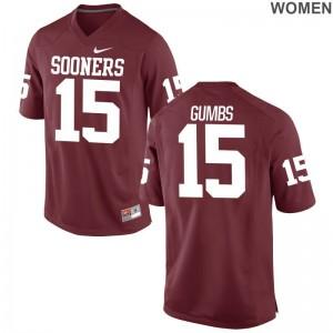 OU Sooners Limited Addison Gumbs Ladies Jersey S-2XL - Crimson