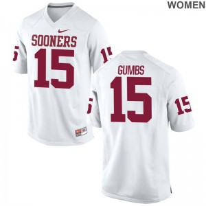 Limited Ladies Sooners College Jerseys Addison Gumbs - White