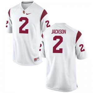 Trojans White Game Men Adoree Jackson Jerseys