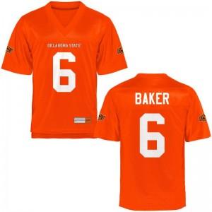 Limited Adrian Baker NCAA Jerseys Oklahoma State Orange For Men