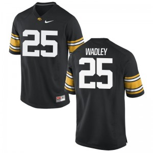 Akrum Wadley University of Iowa Jersey S-3XL Game For Men Black