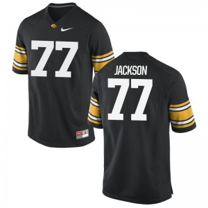 Iowa Alaric Jackson Football Jerseys Game Black For Men