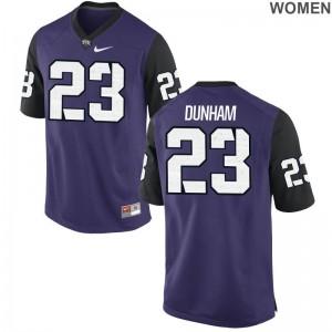 Alec Dunham TCU Jerseys Game Purple Black For Women Jerseys