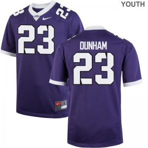 Alec Dunham Kids Jerseys Purple Horned Frogs Game