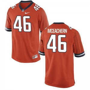 UIUC Alec McEachern Game Mens College Jersey - Orange