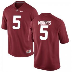 University of Alabama Alec Morris Game Jersey Red For Men