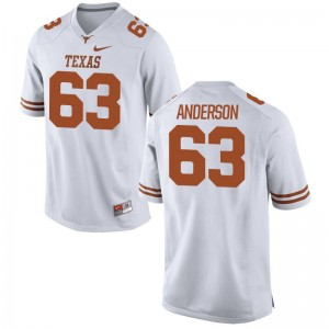 Alex Anderson For Men White College Jersey University of Texas Limited
