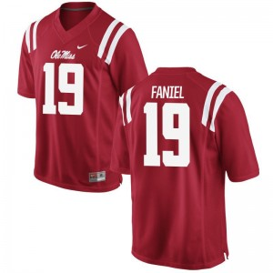 Alex Faniel Rebels Men Red Game College Jersey
