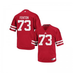 Wisconsin Badgers Player Jerseys of Alex Fenton Red Authentic Mens