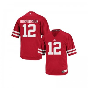 Authentic Wisconsin Badgers Alex Hornibrook Mens Jersey S-3XL - Red