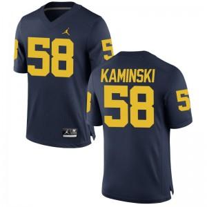 S-3XL Michigan Wolverines Alex Kaminski Jersey NCAA For Men Game Jordan Navy Jersey