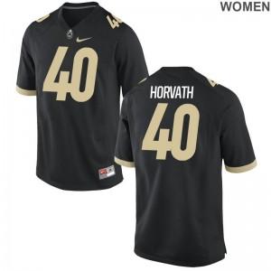 Purdue University Game Alexander Horvath Womens Jerseys S-2XL - Black