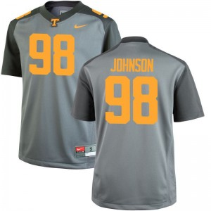 Game Mens Tennessee Volunteers NCAA Jersey Alexis Johnson - Gray