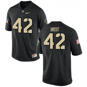 Army NCAA Jerseys Amadeo West Black Game Mens