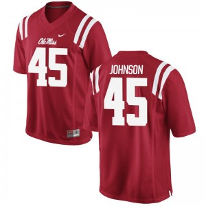Amani Johnson Ole Miss Jerseys S-3XL Mens Red Game