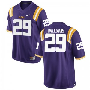 LSU Tigers Andraez Williams Jersey S-3XL Purple Game For Men