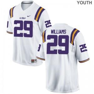 LSU Game Andraez Williams Kids Jerseys S-XL - White