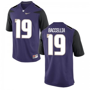 Andre Baccellia Jersey For Men University of Washington Limited - Purple