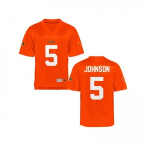 Miami Hurricanes Andre Johnson Jerseys Game Orange Kids Jerseys