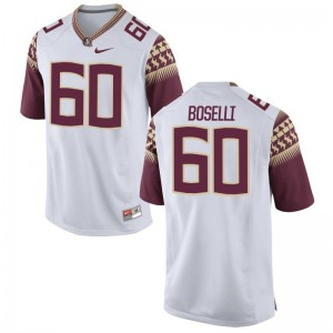 Florida State Seminoles Andrew Boselli Jersey S-3XL Limited Men - White