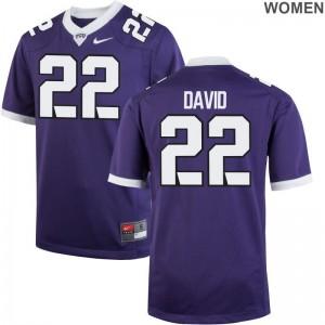 For Women Andrew David NCAA Jerseys TCU Limited - Purple