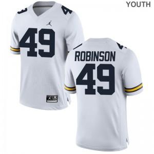 Andrew Robinson Youth(Kids) Jerseys Michigan Wolverines Jordan White Limited