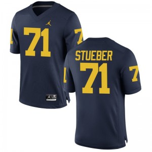 Andrew Stueber Michigan Wolverines Jersey S-3XL Game Mens Jersey S-3XL - Jordan Navy