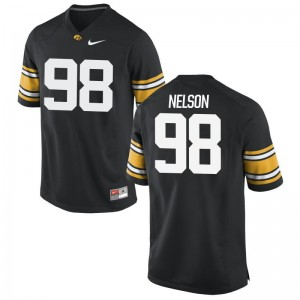 Anthony Nelson University of Iowa Jersey S-3XL Black Mens Game