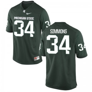 Game Michigan State University Antjuan Simmons Mens Green Jersey