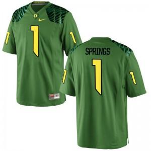 Arrion Springs Oregon Jersey For Men Game Apple Green Jersey