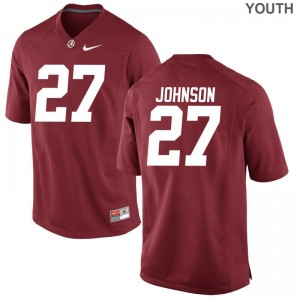 Austin Johnson Youth(Kids) College Jerseys Limited Red Bama
