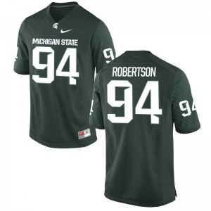 Michigan State Spartans Auston Robertson Jerseys S-3XL Green Mens Game
