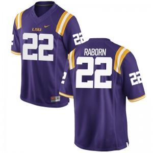 LSU Bailey Raborn College Jerseys Purple Game Men Jerseys