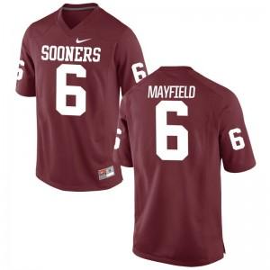 Baker Mayfield OU Sooners Jersey Game For Men - Crimson