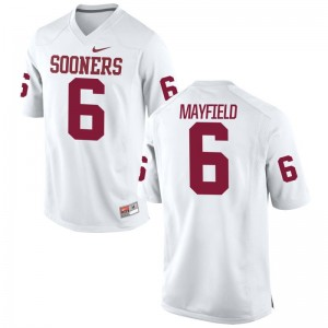 Sooners Baker Mayfield Alumni Jerseys Game For Men White