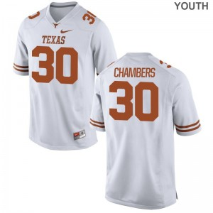 Texas Longhorns White Limited Youth Barrett Chambers College Jersey
