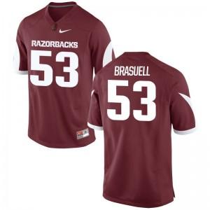 For Men Game Arkansas Jerseys S-3XL Ben Brasuell - Cardinal