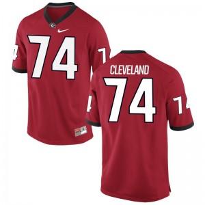 Georgia Bulldogs Jerseys Ben Cleveland For Men Red Game