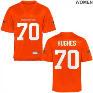 Game Orange Women OSU Cowboys High School Jersey Ben Hughes