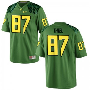 Oregon Ducks Ben Thiel Game Jerseys Apple Green Mens