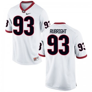Bill Rubright Jersey S-3XL Georgia Mens Limited - White