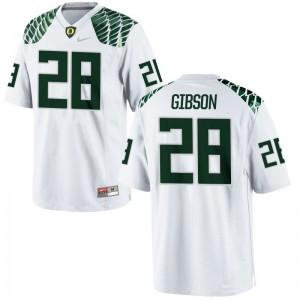 Billy Gibson Limited Jerseys Men College Ducks White Jerseys